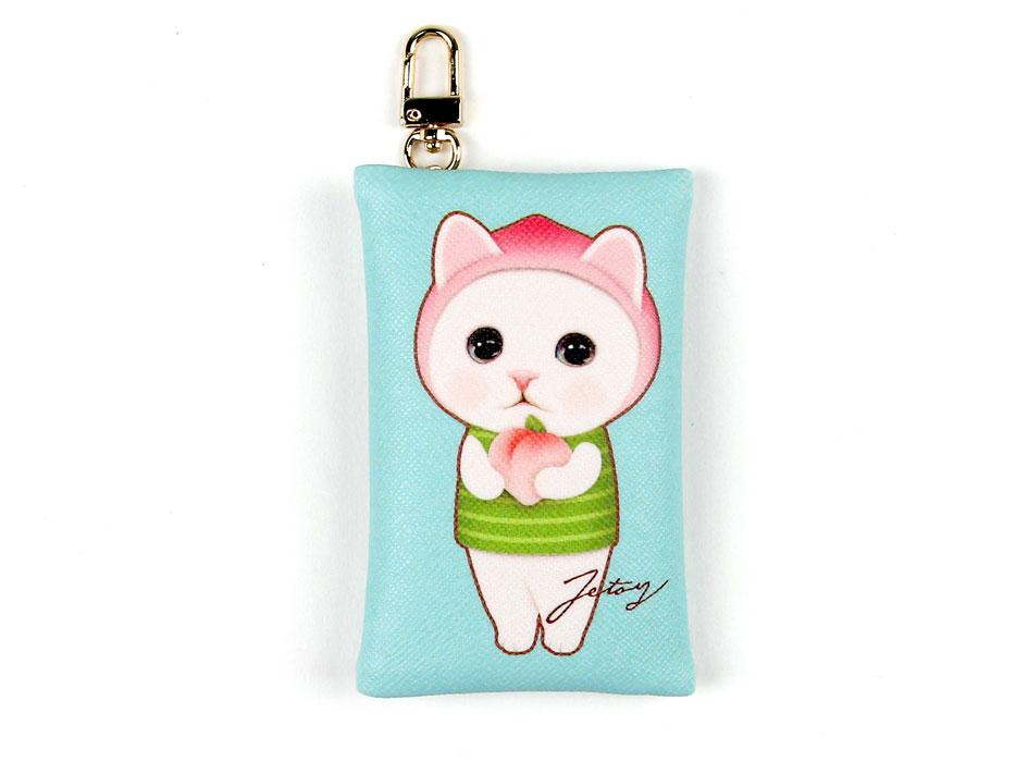 猫のカードケースチャーム ピーチ