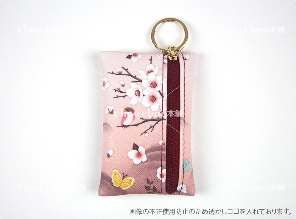 裏面にも美しいお花が♪<br>ファスナータイプの<br>カードケースだから<br>大切なカードも<br>安心して収納できます☆