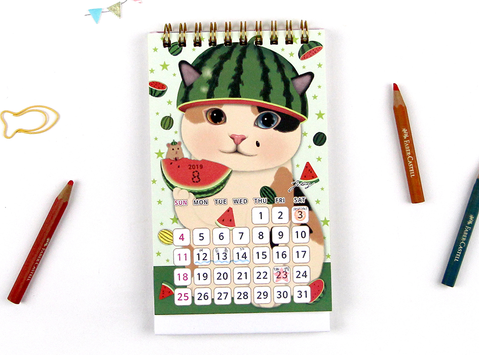 8月のデザインは、スイカのchoo choo!<br>夏といえばスイカ♪<br>みずみずしくて美味しそうですね!