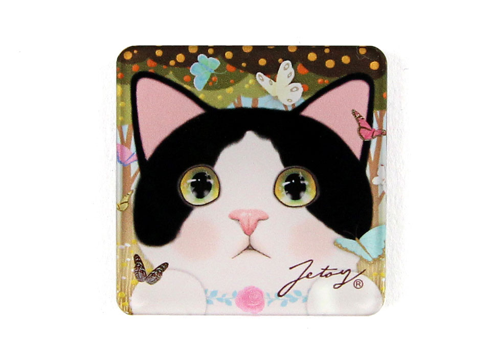 猫のマグネット 白黒