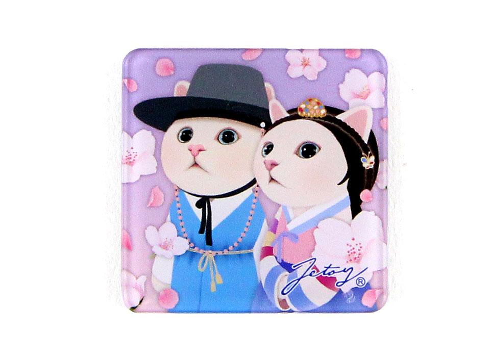 猫のマグネット 韓服カップル