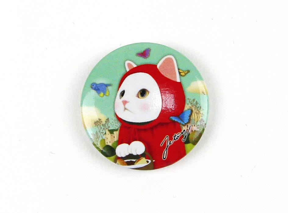 choo choo本舗の定番!<br>赤ずきん猫のイラストがかわいいミニマグネットです♪