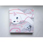 猫のキャンバスアートS パール