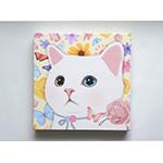 猫のキャンバスアートS フラワー