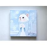 猫のキャンバスアートS 雪の女王