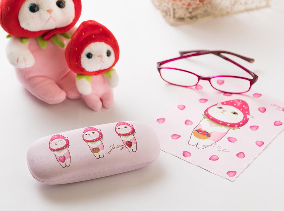 かわいいメガネケースと<br>メガネ拭きのセットです♪