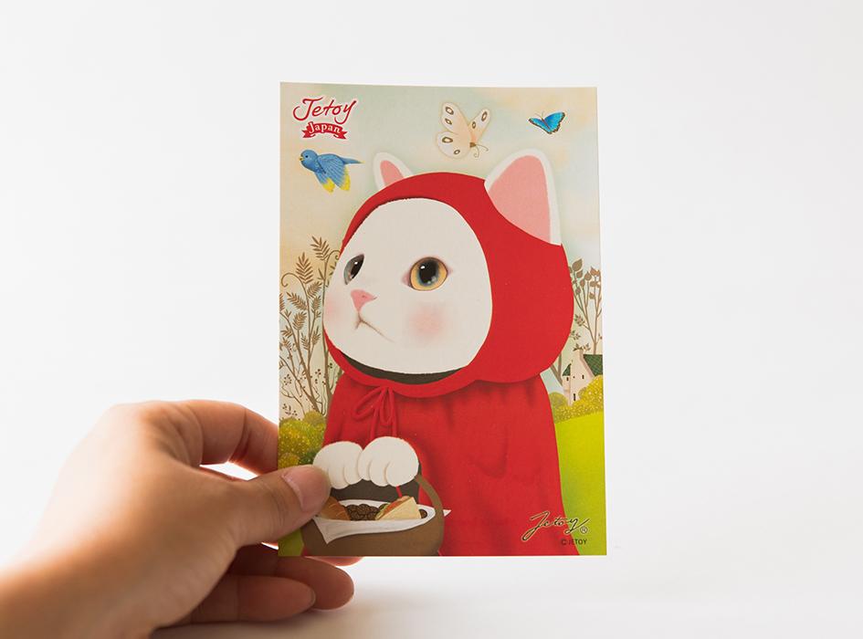 赤ずきん猫のふんわりとしたイラストに<br>癒されます◎