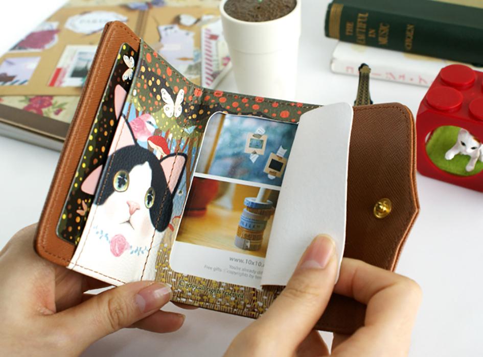 愛猫ちゃんの写真や、家族の写真、<br>大切なカード類を入れても<br>かわいいですよね◎