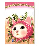 【ワケあり】猫のクリアフォルダー ピンクずきん