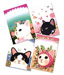【ワケあり】猫のクリアフォルダー アソート4枚組