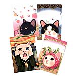 【ワケあり】猫のクリアフォルダー アソート4枚組2