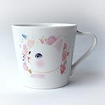 猫のミニマグカップ 白