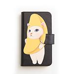 猫のスマホケース 手帳型 バナナ M