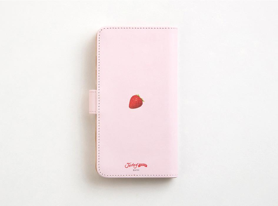 甘すぎないピンクが上品。<br>裏面の苺も見逃せない♪