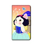 猫のスマホケース 手帳型 カスタム 白雪姫