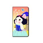 猫のスマホケース 手帳型 カスタム 白雪姫M