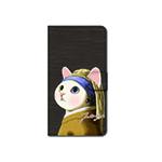 猫のスマホケース 手帳型 カスタム ターバンM
