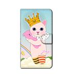 猫のスマホケース 手帳型 カスタム 王子様