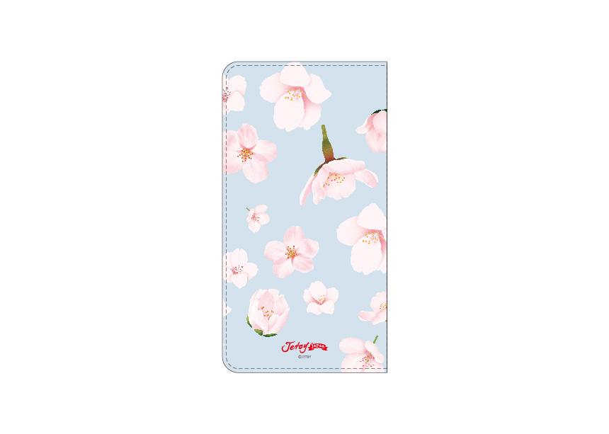 裏面にもピンクの花が<br>デザインされています♪<br>水色をメインカラーにすることで<br>甘くなりすぎない<br>大人かわいいビジュアルを<br>実現しました(^^)<br>※商品の写真および画像はイメージです。<br>※実際の商品とは異なる場合があります。
