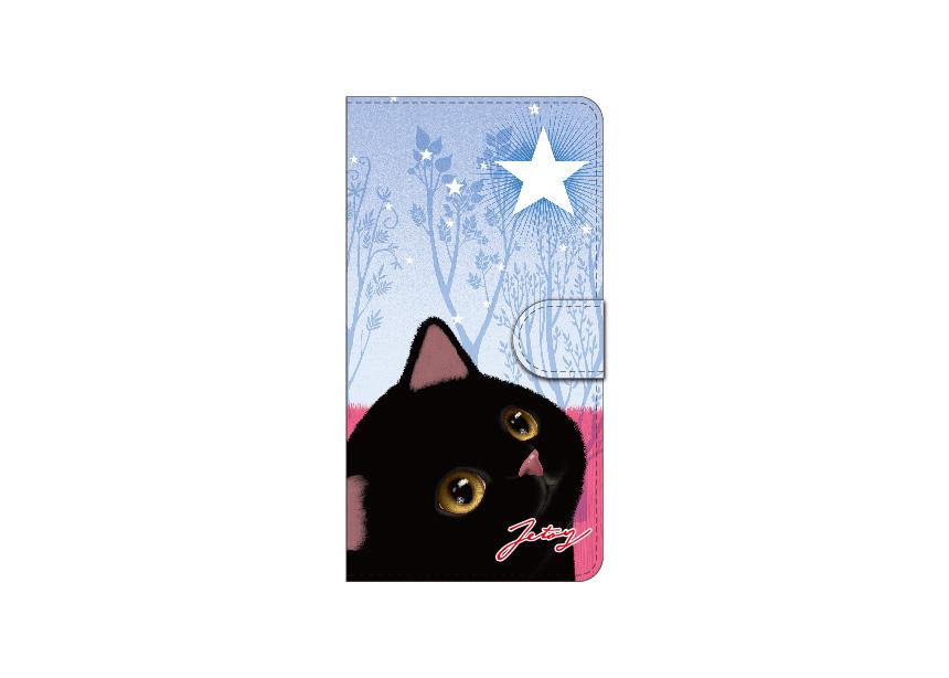 "<div class=""red"">【第2回!<br> 猫のスマホケース 手帳型 カスタム<br> 受注会】開催中!</div><br>大きく描かれた<br>黒猫がとても印象的な<br>フォレスト柄のスマホケース♪<br>満点の星空を見上げる<br>黒猫の輝く瞳が愛らしいです☆<br>※商品の写真および画像はイメージです。<br>実際の商品とは異なる場合があります。"