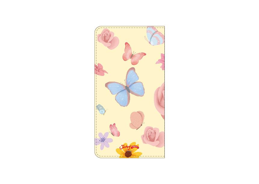 裏面にも色とりどりの<br>お花や蝶がデザインされています♪<br>花柄が大好きな方やカラフルな<br>色使いが大好きな方におすすめです◎<br>※商品の写真および画像はイメージです。<br>※実際の商品とは異なる場合があります。