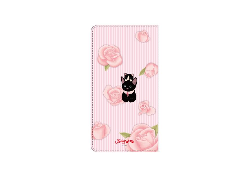 裏面には黒猫の姿が♪<br>どちらの面もとってもかわいい<br>女子力高めのスマホケースです(^^)<br>※商品の写真および画像はイメージです。<br>※実際の商品とは異なる場合があります。