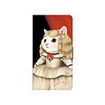 猫のスマホケース 手帳型 カスタム 白L