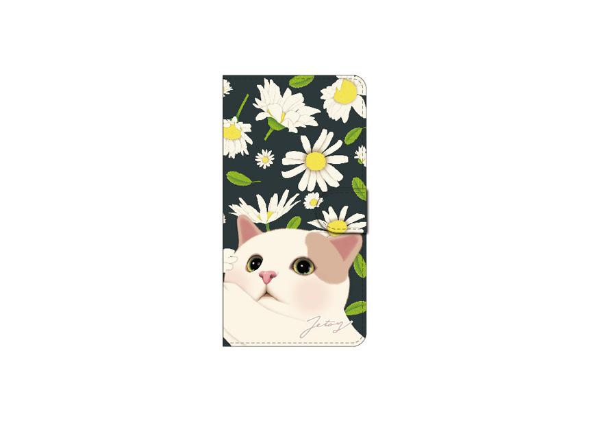 """<div class=""""red"""">【第2回!<br> 猫のスマホケース 手帳型 カスタム<br> 受注会】開催中!</div><br>ブラック×ホワイトの<br>コントラストがとてもすてきな<br>大人かわいいスマホケース♪<br>無邪気な白茶猫の表情に<br>癒されます☆<br>※商品の写真および画像はイメージです。<br>実際の商品とは異なる場合があります。"""