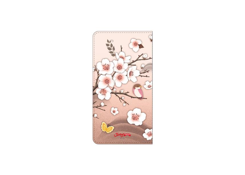 裏面には美しい花が♪<br>ピンクベースだけれども<br>甘くなりすぎない<br>大人かわいいデザインが<br>嬉しいですね(^^)<br>※商品の写真および画像はイメージです。<br>※実際の商品とは異なる場合があります。