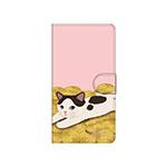 猫のスマホケース 手帳型 カスタム 金貨L