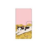 猫のスマホケース 手帳型 カスタム 金貨M