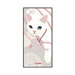 猫のスマホケース ハードタイプ カスタム パール