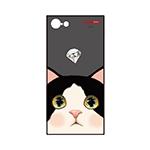 猫のスマホケース ハードタイプ カスタム 白黒