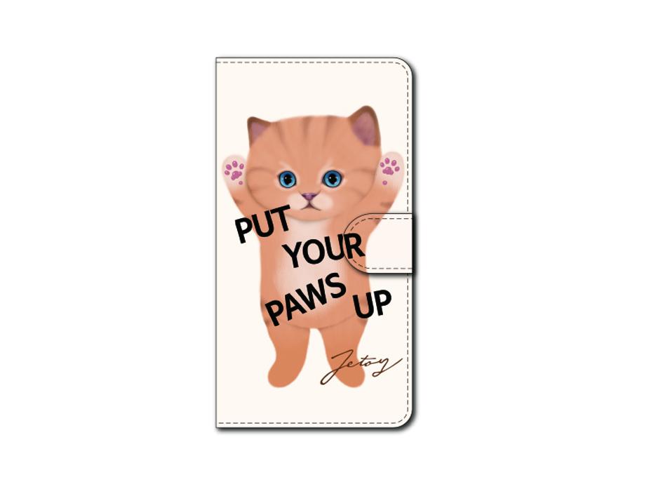 "<div class=""red"">【第2回!<br> 猫のスマホケース 手帳型 カスタム<br> 受注会】開催中!</div><br>バンザイをした茶トラ猫がかわいい!<br>うるうるとした瞳に癒される、<br>choo chooのスマホケースです<br>※商品の写真および画像はイメージです。<br>実際の商品とは異なる場合があります。"