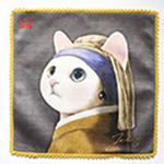 猫のタオルハンカチ ターバン