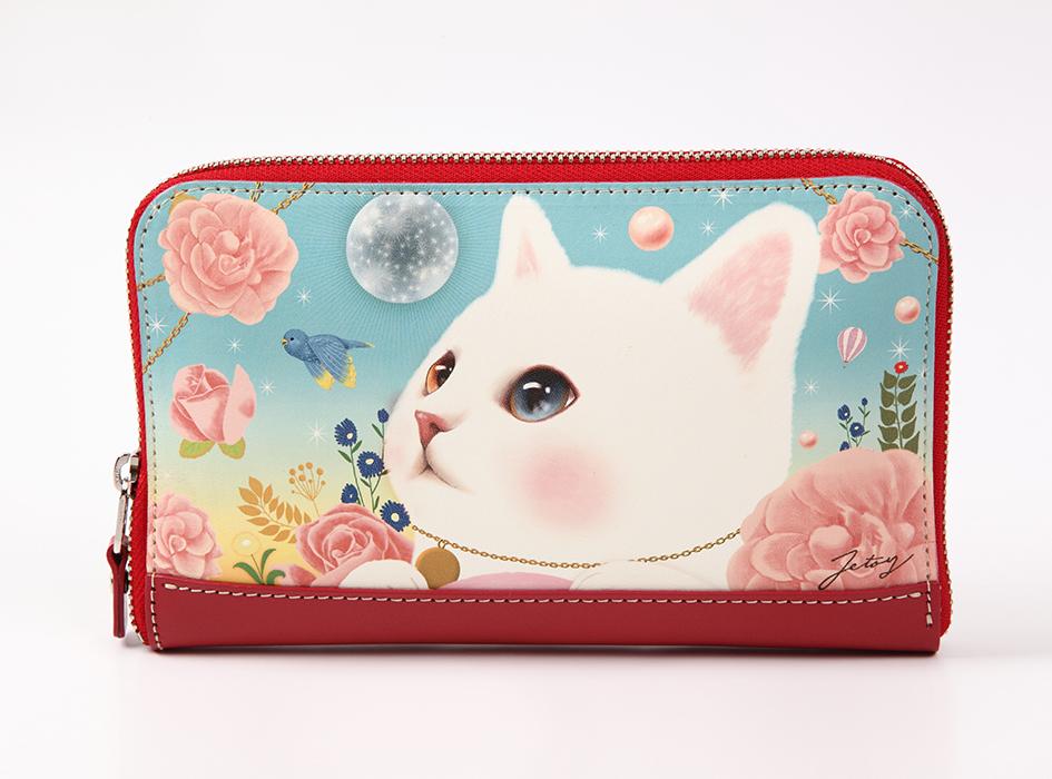 猫の長財布2 白