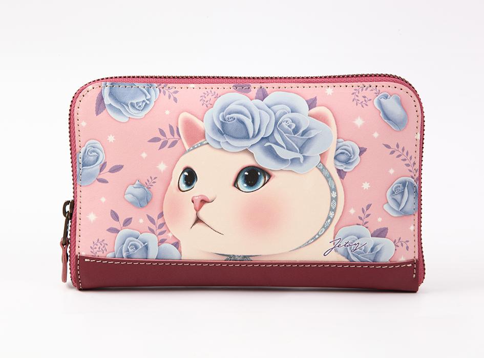 猫の長財布2 ブルーローズ
