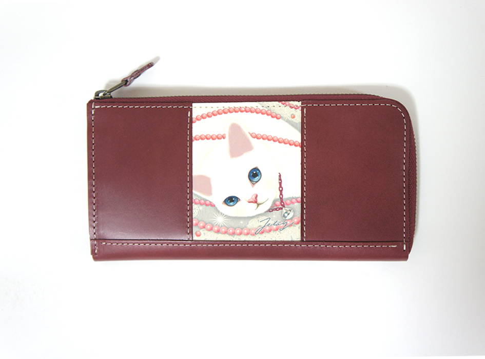 猫の長財布3 パール