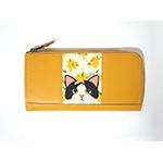 猫の長財布3 白黒イエローフラワー
