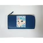 猫の長財布3 ブルーローズ
