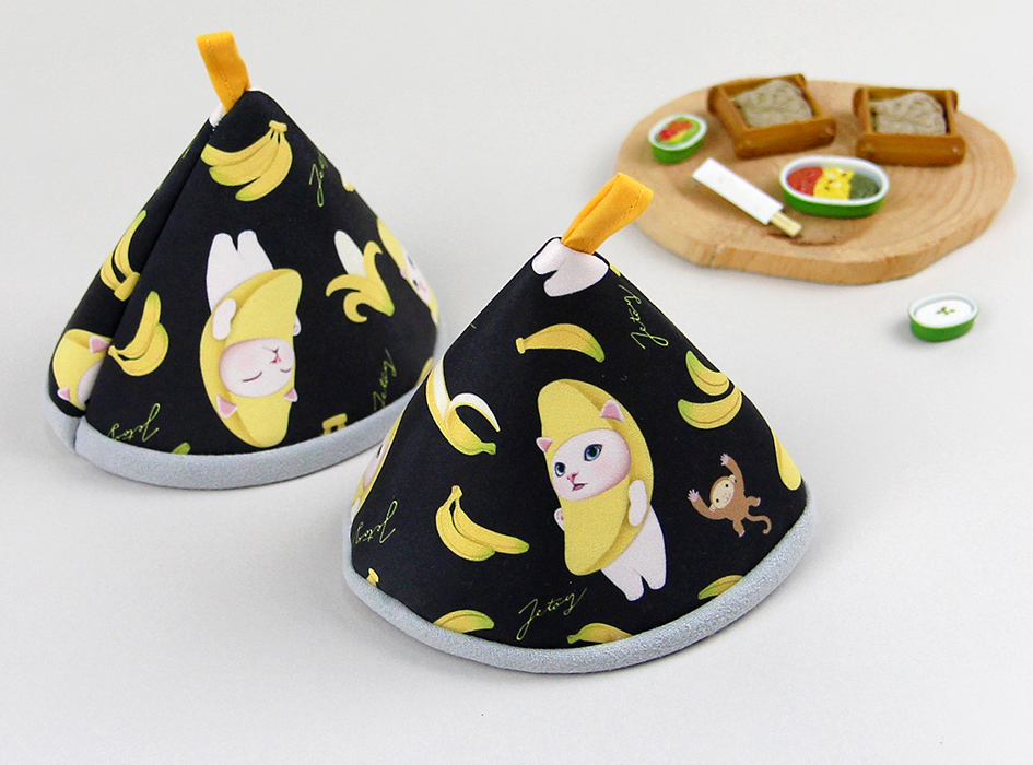 大きく描かれた<br>バナナ猫が鮮やかです☆