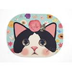 猫のマウスパッド4 白黒