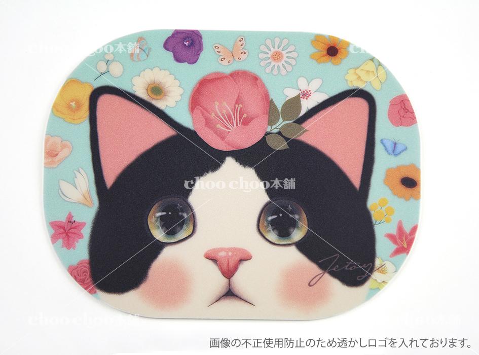 こちらを見つめている白黒猫に<br>とっても癒される!!<br>カラフルでキュートなデザインです◎