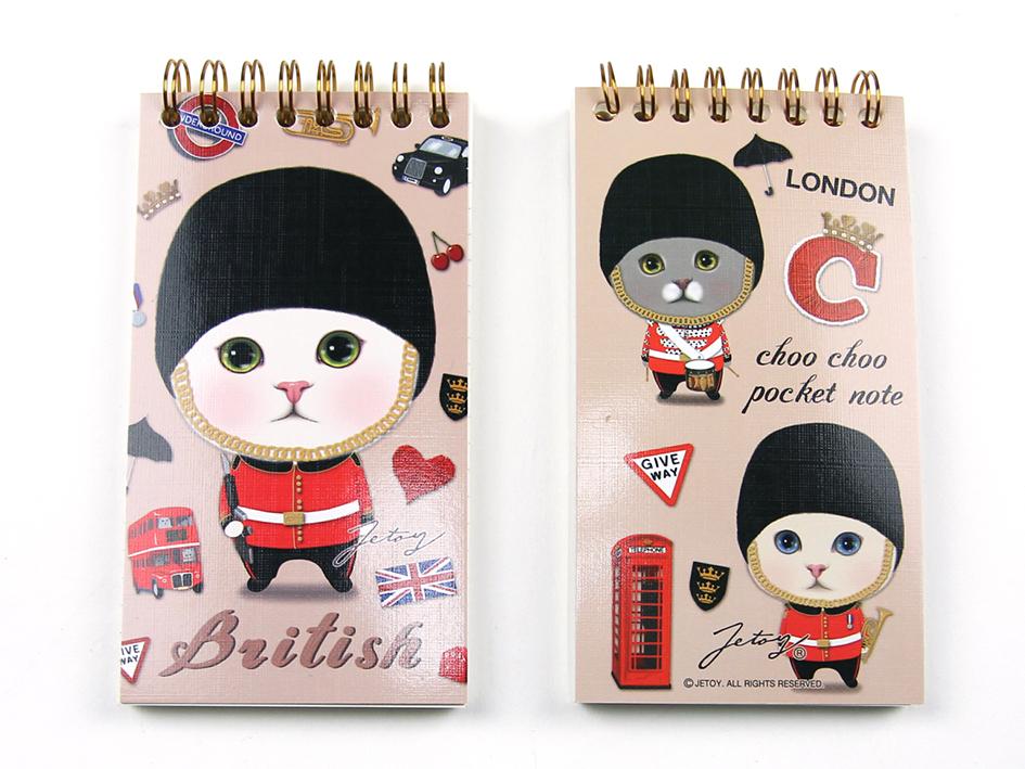 猫のリングミニノート2 ロンドン