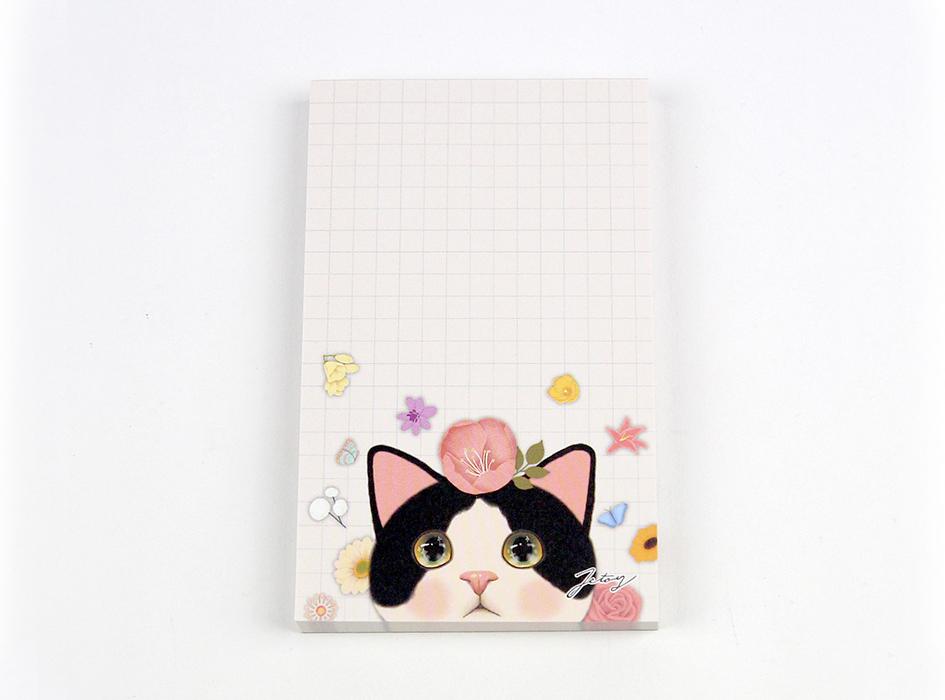 猫のメモパッド2 白黒