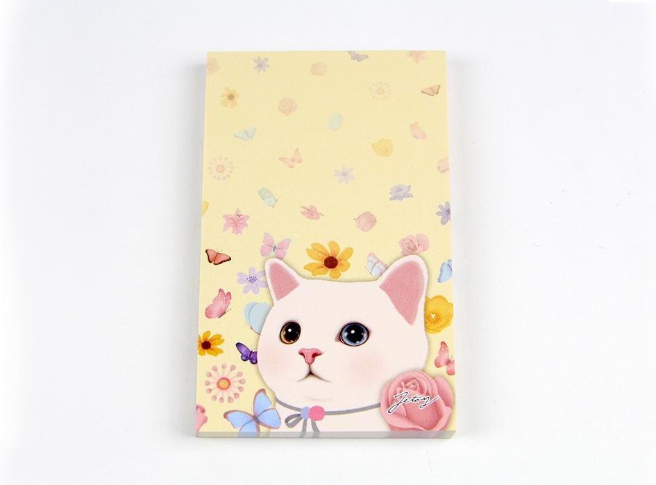 猫のメモパッド2 フラワー