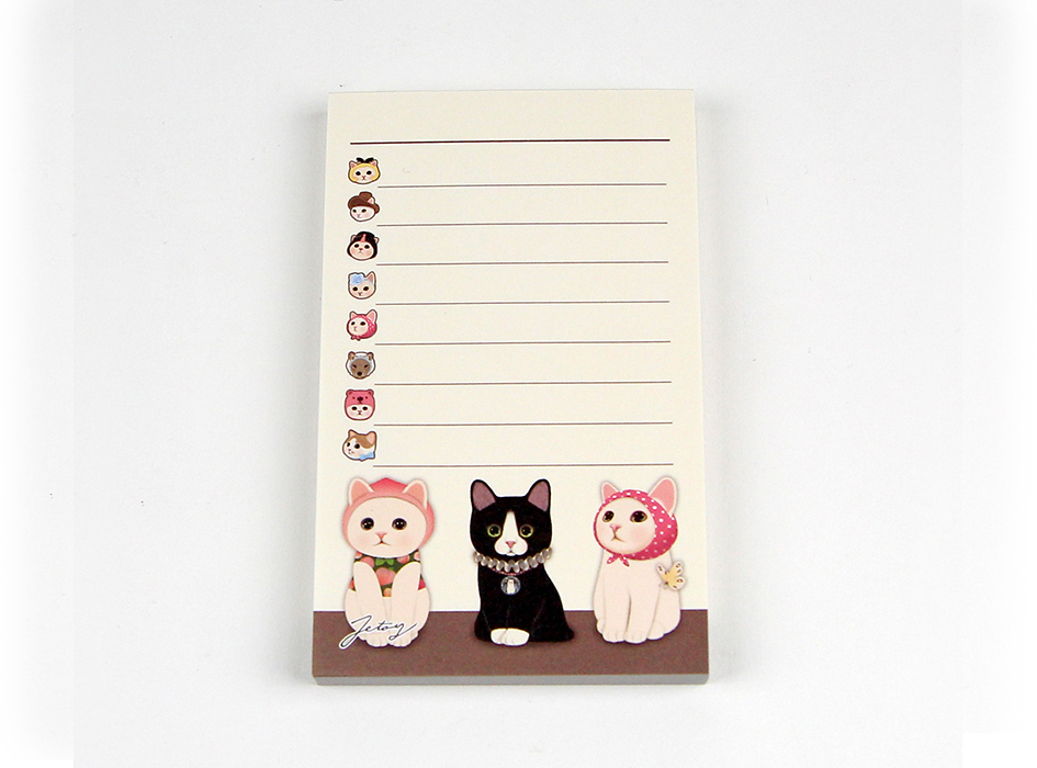 猫のメモパッド2 トリオ