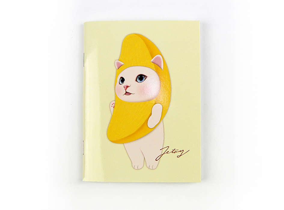 猫のミニノート A6 バナナ