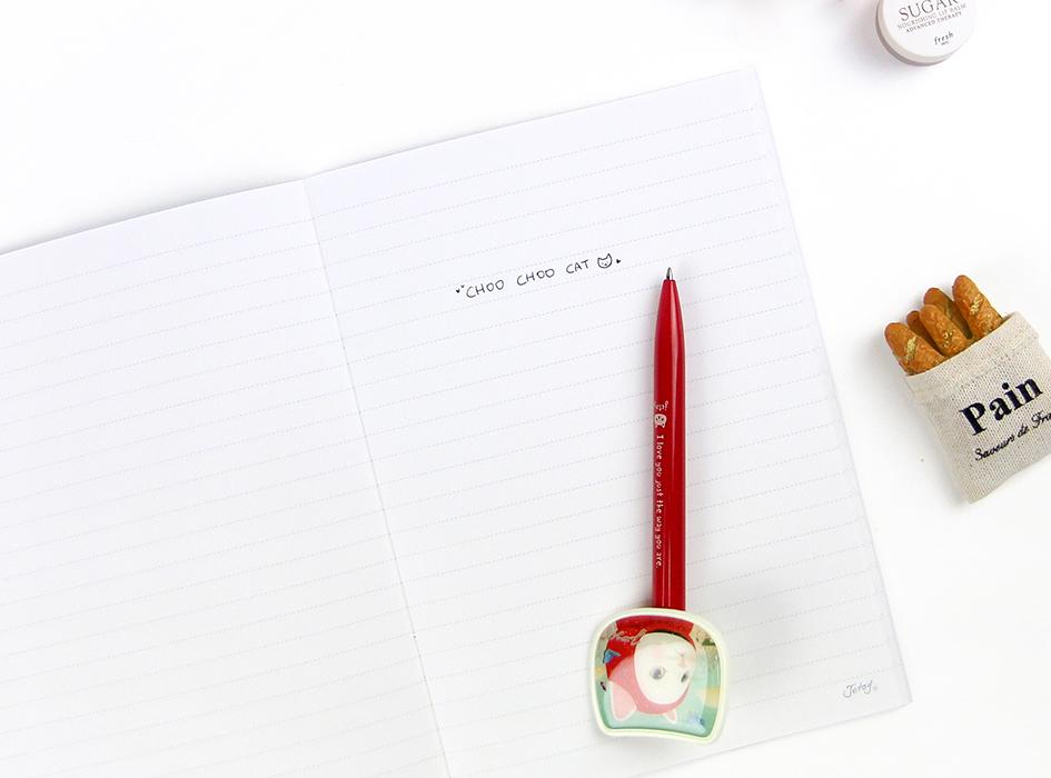 中はシンプルな羅線なので、<br>お仕事や日記、お勉強、趣味など…<br>アイデア次第で様々にご利用いただけます♪