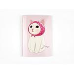 猫のミニノート A6 ピンクずきん